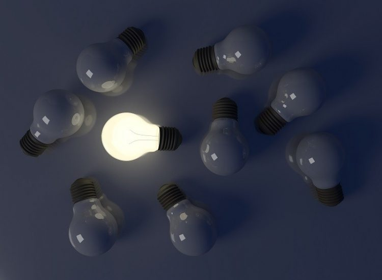 Light bulb, 3d illustration